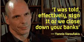 [Ultimatum over Yannis Varoufakis.]